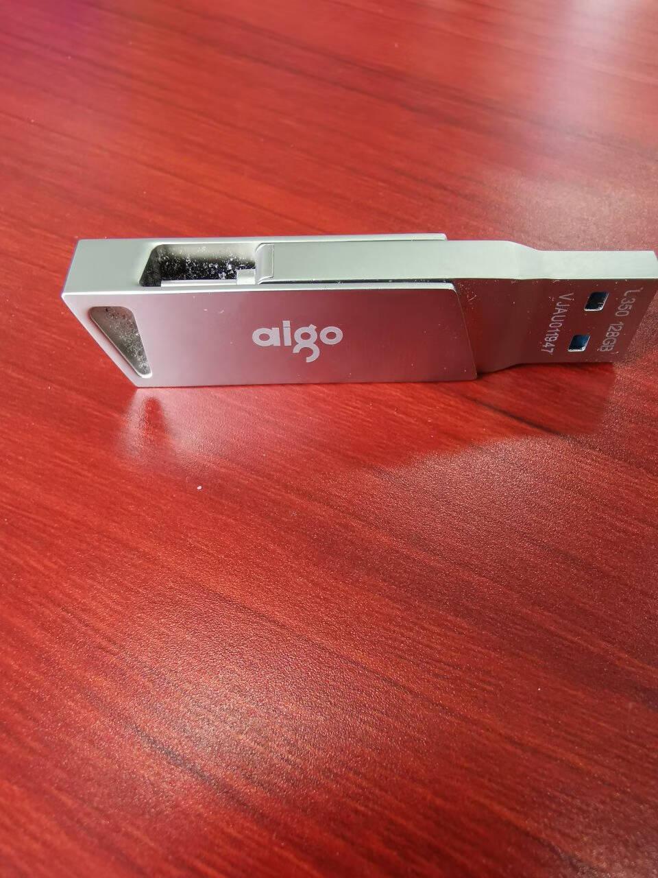 爱国者(aigo)128GBType-CUSB3.1手机U盘U358银色金属mini款双接口手机电脑用