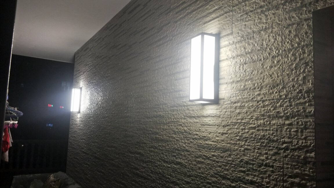 GOGANGLED户外壁灯防水庭院过道阳台创意现代简约外墙室外壁灯5004砂黑暖光