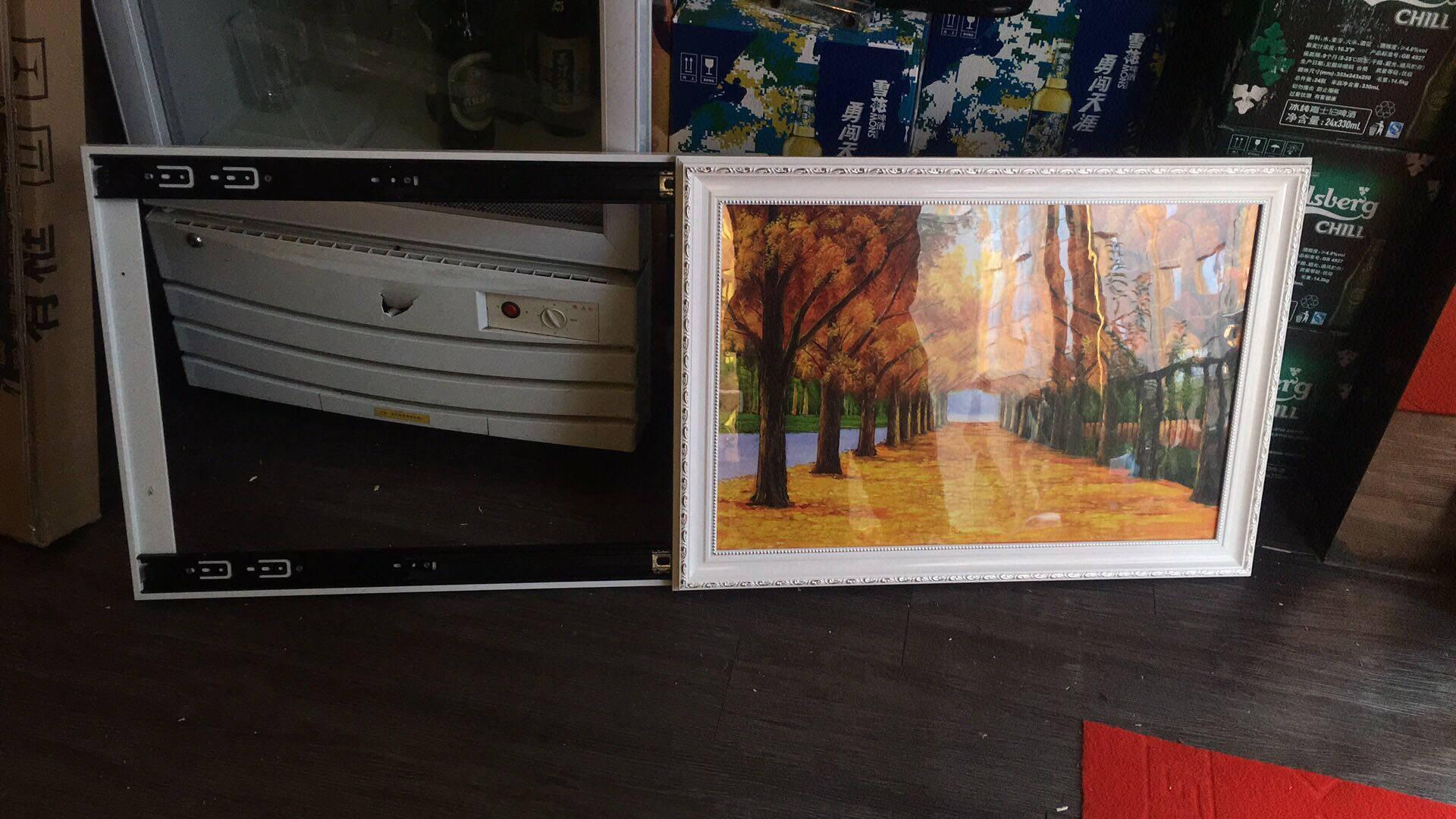 好久不见电表箱装饰画推拉式遮挡配电箱画客厅沙发背景墙壁画挂画简约有框画HT-1350*70(内径40*60)