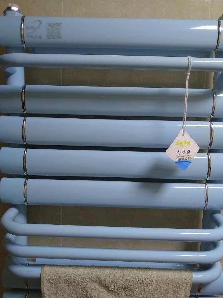 华德华美小背篓暖气片卫生间家用水暖散热器集体自采供暖浴室厨房洗手间壁挂式置物毛巾烘干架铜铝升级款现货直发—亮白色800x400mm中心距(有毛巾杆
