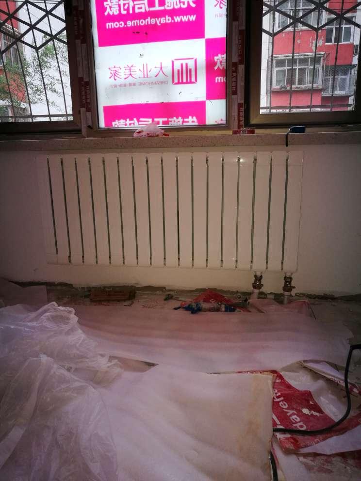 太阳花暖气片家用水暖铜铝复合自采暖壁挂式卧室客厅取暖卫生间散热器【一片(即一竖条)价格,三片起拍】1.5米高单片价格