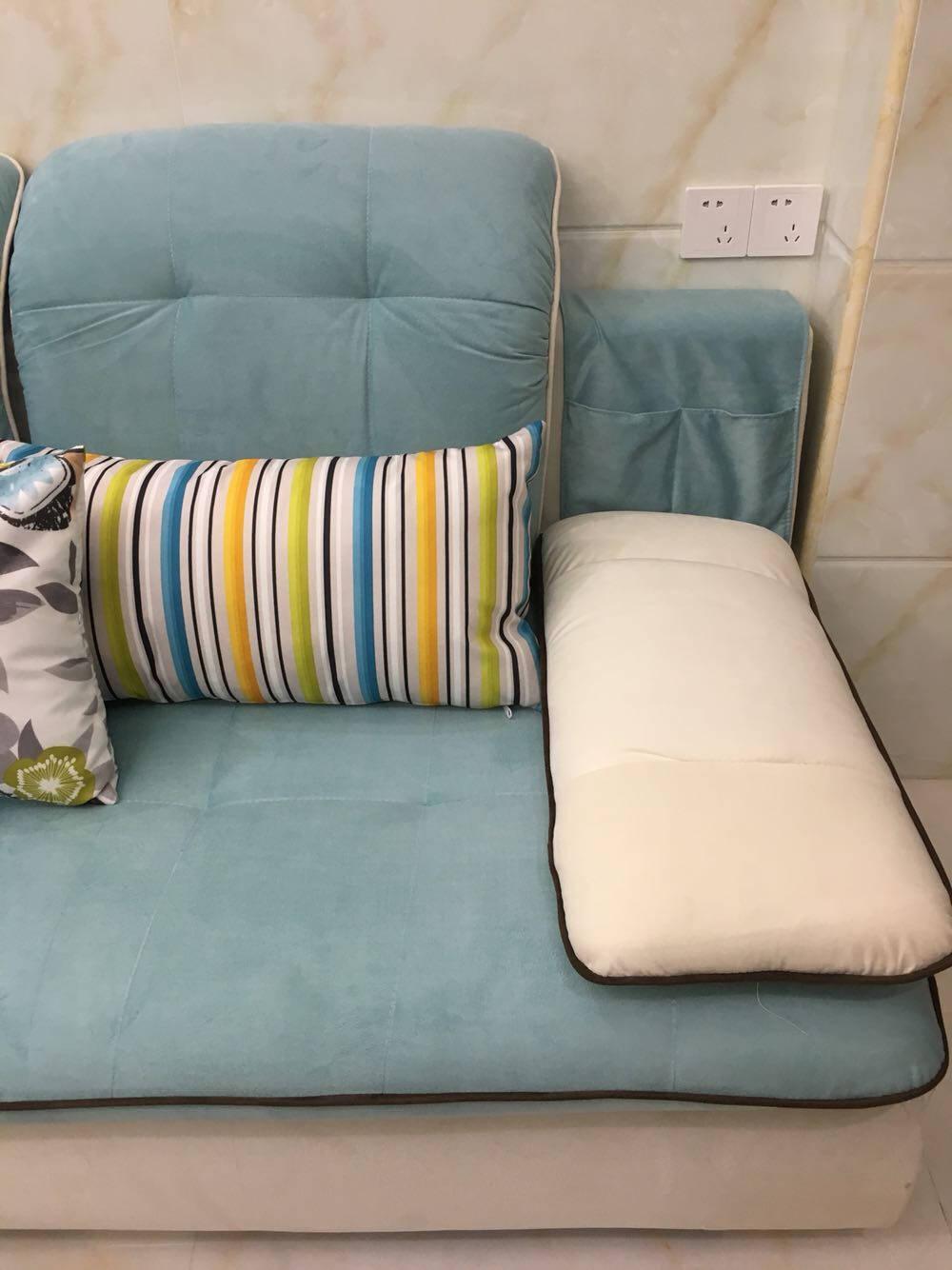 中派沙发可拆洗客厅布艺沙发组合颜色双人+单人+贵妃