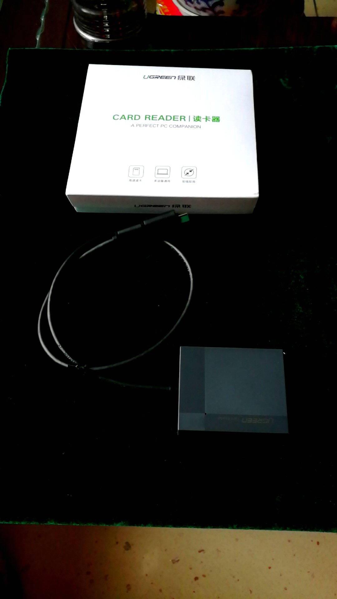 绿联USB-C3.0读卡器多合一带Type-COTG支持SD/TF/CF/MS相机手机内存卡多卡多读带Type-COTG款