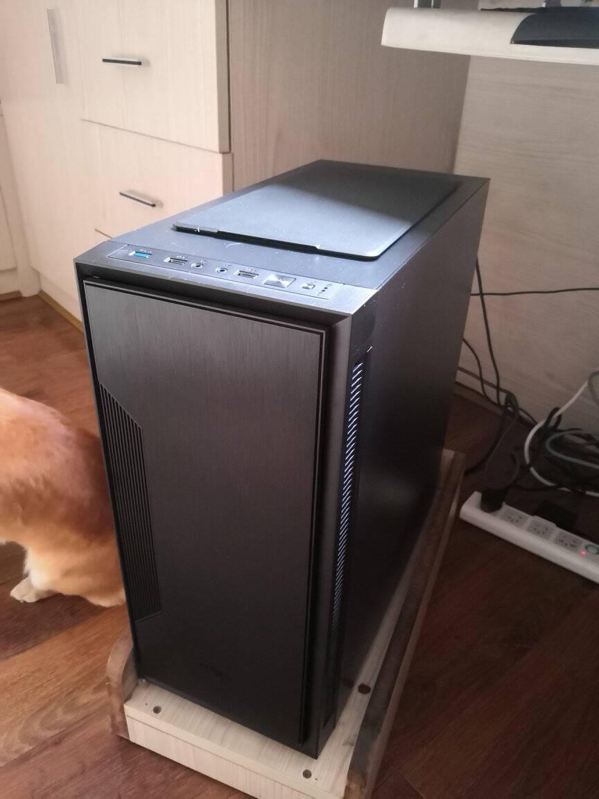 爱国者(aigo)黑曼巴标准版黑色主动式静音机箱(支持ATX主板/宽体/标配3把静音风扇/支持280水冷排)