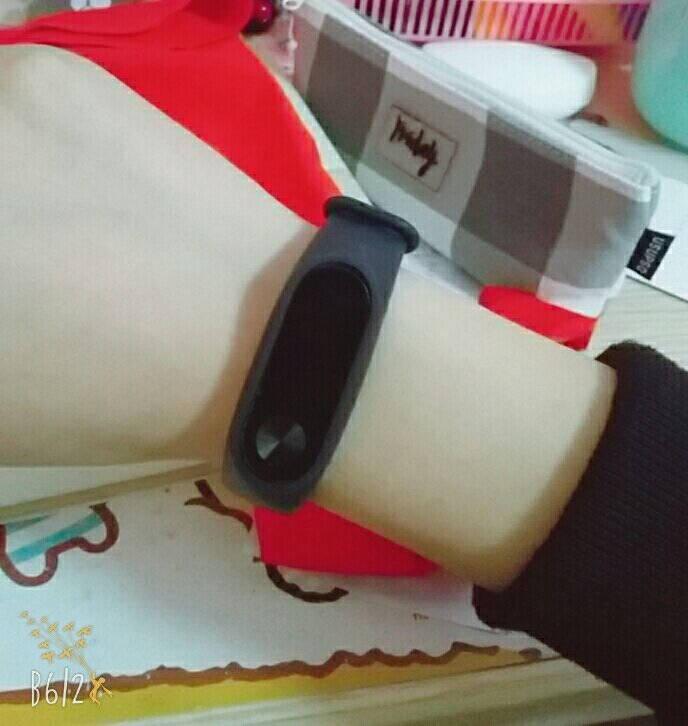 天气不错小米手环2代替换腕带2条装适合小米智能心率手环2运动腕带非原装黑色+黑色