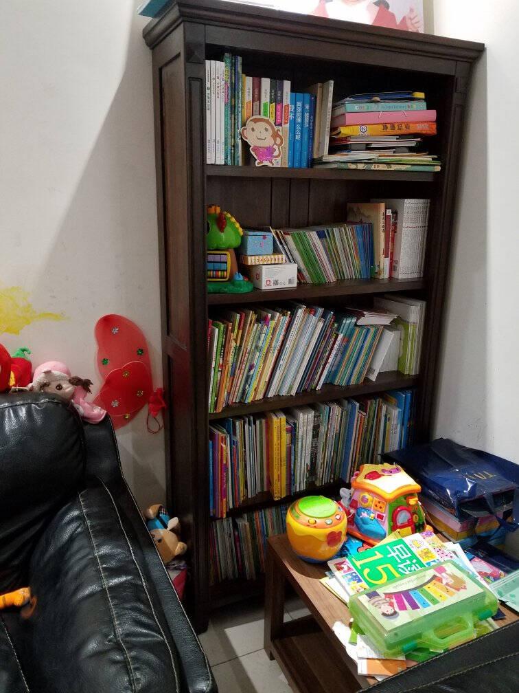 青岛一木书柜书架全实木美式乡村进口鹅掌楸木书橱书柜长0.95*宽0.33*高1.8