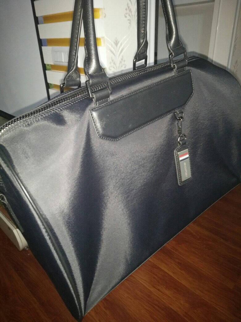 博牌Bopai旅行包手提行李包男女健身包休闲旅行袋短途旅游包大容量黑色32-01731