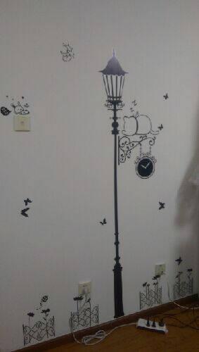 吉朵芸卧室客厅墙贴电视墙房间装饰品贴画过道玄关简约创意个性路灯背景墙壁贴纸餐厅墙贴自粘壁画墙纸贴简约路灯+黑白猫特大