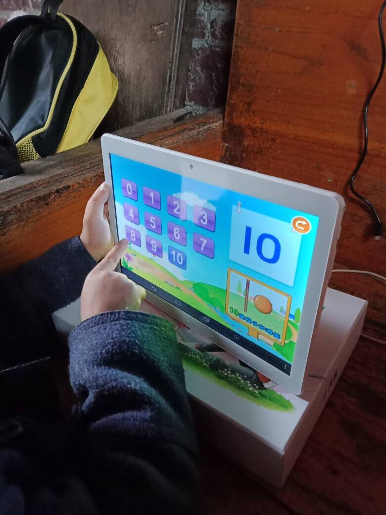小灵童学习机学生平板电脑儿童早教幼儿小学初中高中学生九门课本学习同步英语点读家教机10寸屏豪华版(32G+64G)+智慧眼指尖指读