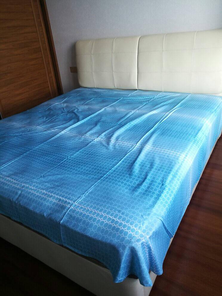 水星家纺床上四件套纯棉40S全棉斜纹套件床单被套被罩单双人宿舍2021年新品氧气格调1.5米床(适配200*230cm被芯)