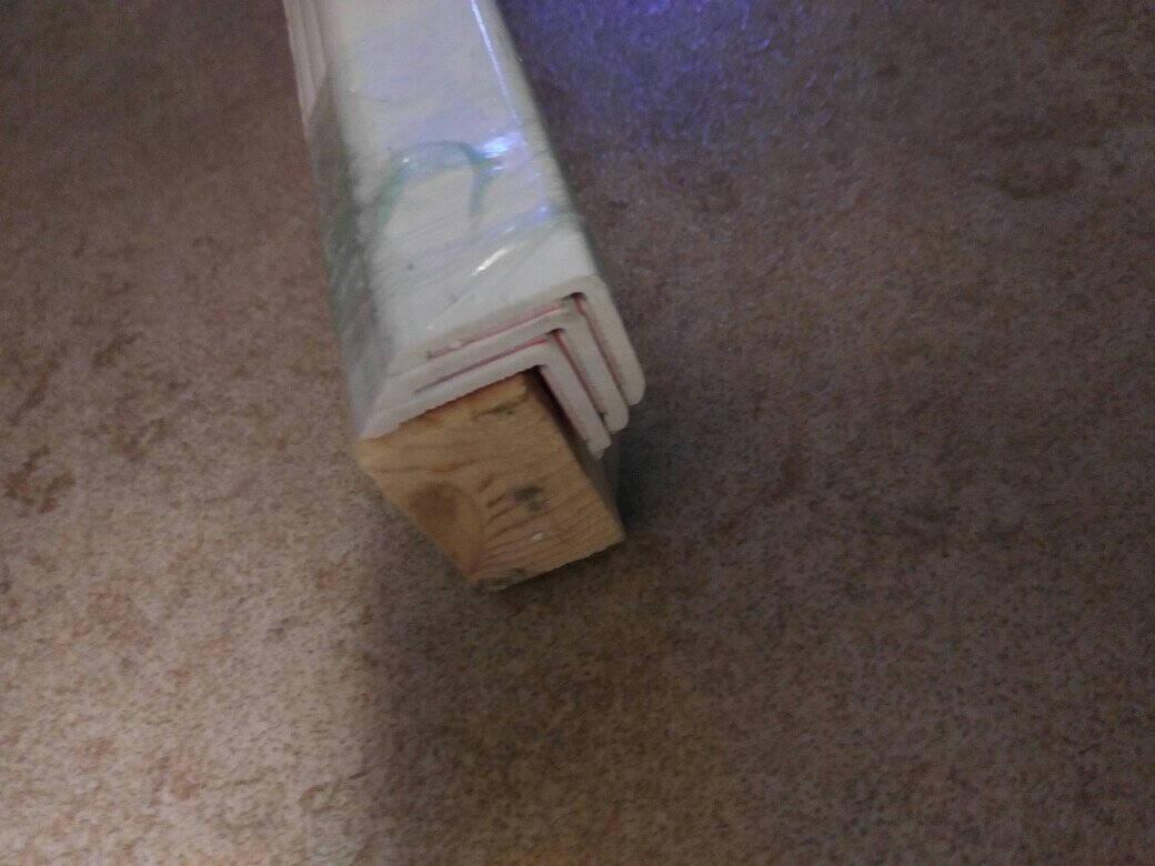世角纳米2.5厘米PVC护墙角护角条护墙角保护条免打孔墙护角收边条防撞条非亚克力白色光面2.4米