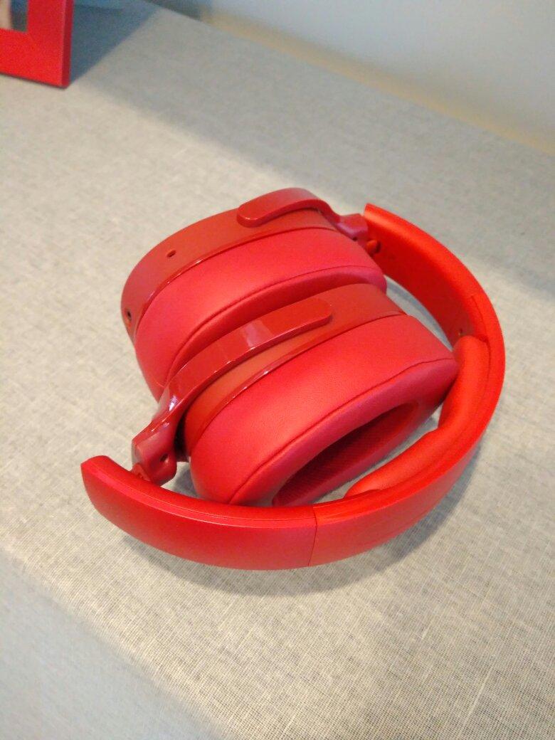 骷髅头红色头戴式蓝牙耳机,送玩游戏女朋友礼物
