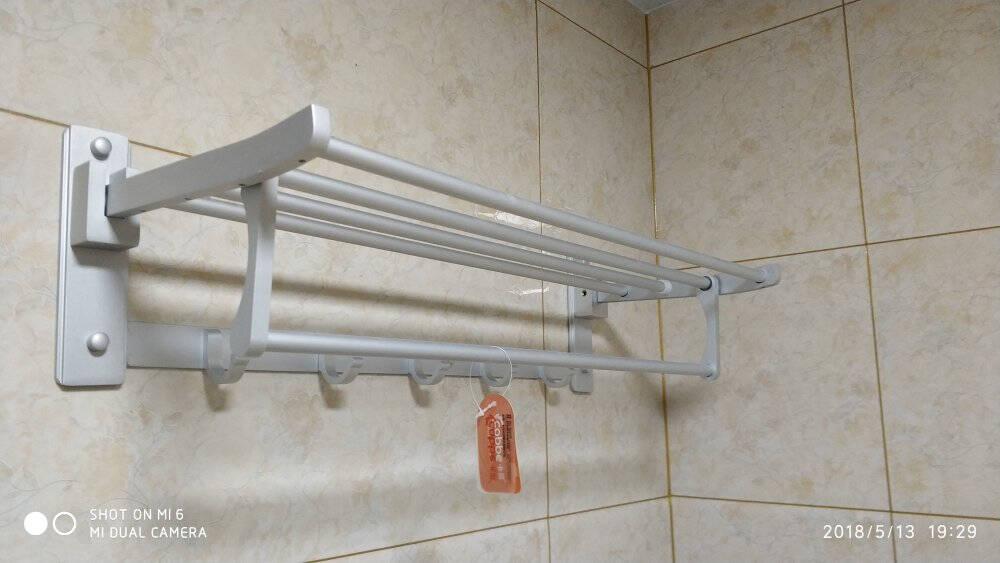 卡贝(Cobbe)浴室置物架卫生间免打孔太空铝卫浴五金挂件洗手间毛巾架浴巾架