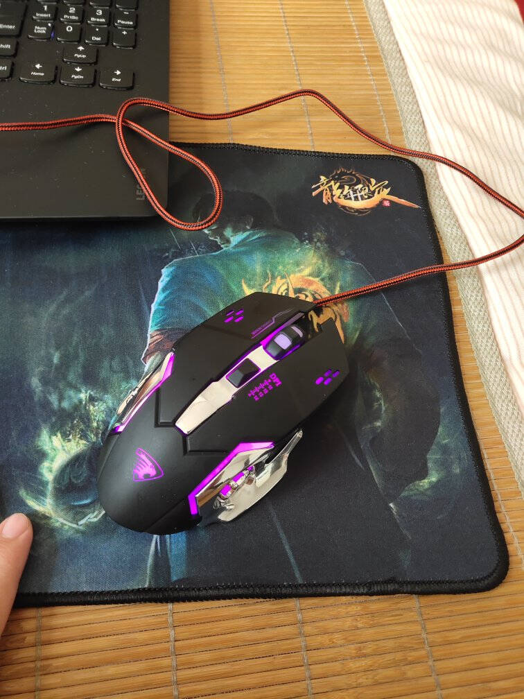 前行者3代电竞游戏绝地求生lolcf吃鸡机械2代台式电脑笔记本家用有线宏鼠标办公外设苹果静音非无声冷酷黑鼠标【金属静音版】