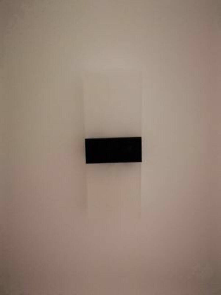 若朗壁灯客厅背景LED卧室走廊过道墙壁灯个性楼梯间灯简约现代床头灯黑直角29*11CM暖光12W