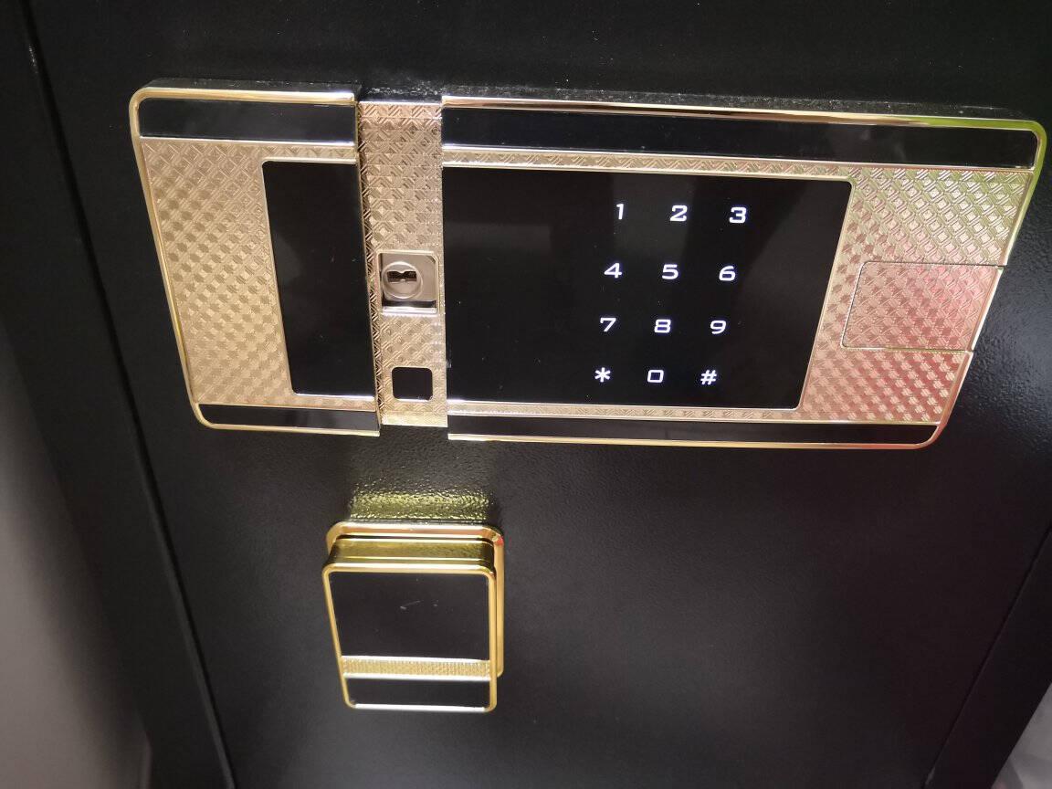 虎牌保险柜家用小型办公高45/60/70/80CM/1米以上单门/双门保险箱密码/指纹保管柜防盗新尚亿45CM咖啡金电子密码款(密码+钥匙)