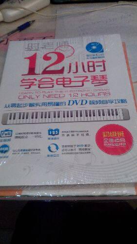 12小时学会电子琴:从零起步最实用易懂的DVD视频自学攻略(附DVD光盘)