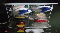 欧润哲菜架多功能固定篮多层带轮层车可移动蔬菜水果收纳架杂物浴室客厅整理架4层加密加固白色
