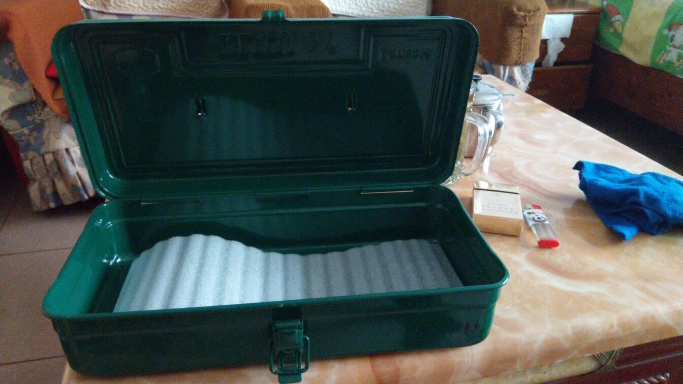 老A(LAOA)五金家用工具箱收纳箱车载加厚铁皮箱子带隔层LA113410