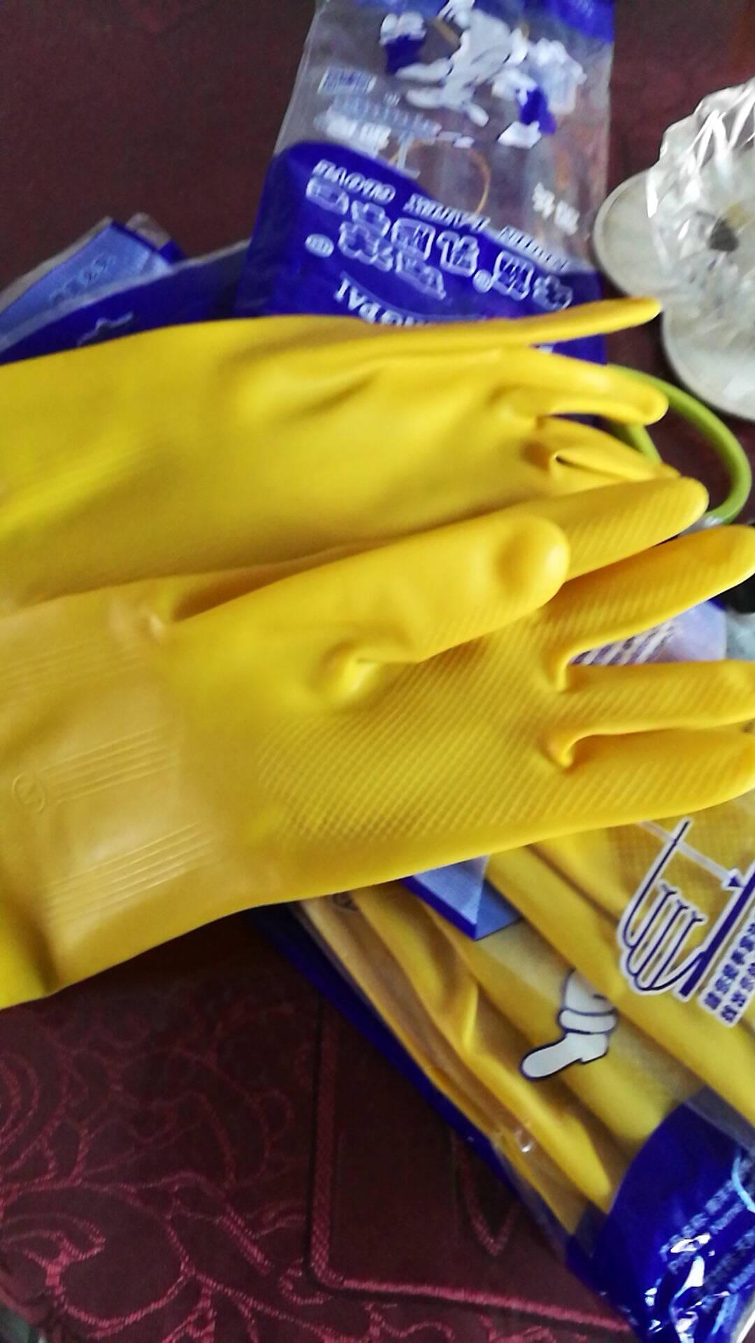 10双包装南洋乳胶手套加厚耐酸碱橡胶手套天骄抗腐蚀家用手套洗碗手套工业牛筋手套南洋乳胶10双包装M(中号)