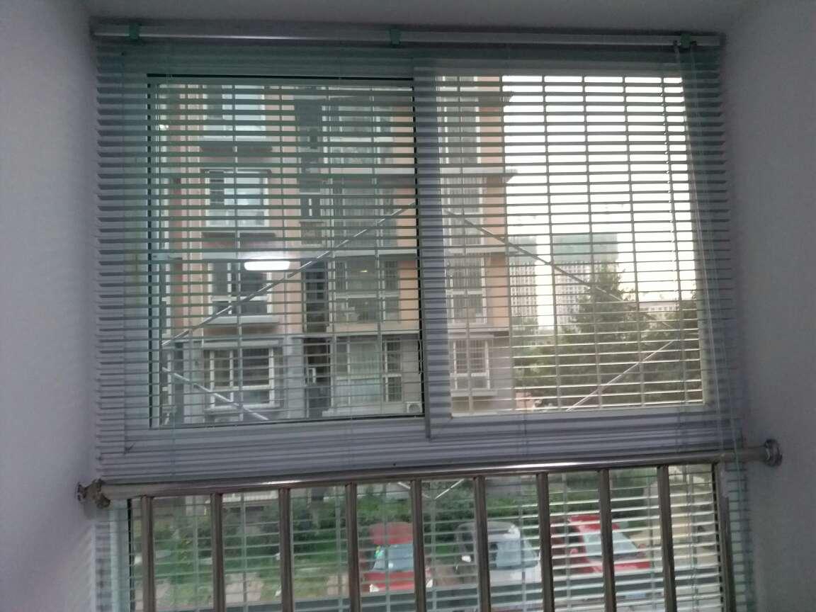 致尚25mm卧室办公室铝合金百叶窗帘高端转棒控制厨房卫生间升降卷帘zs25zb哑光1平米单价