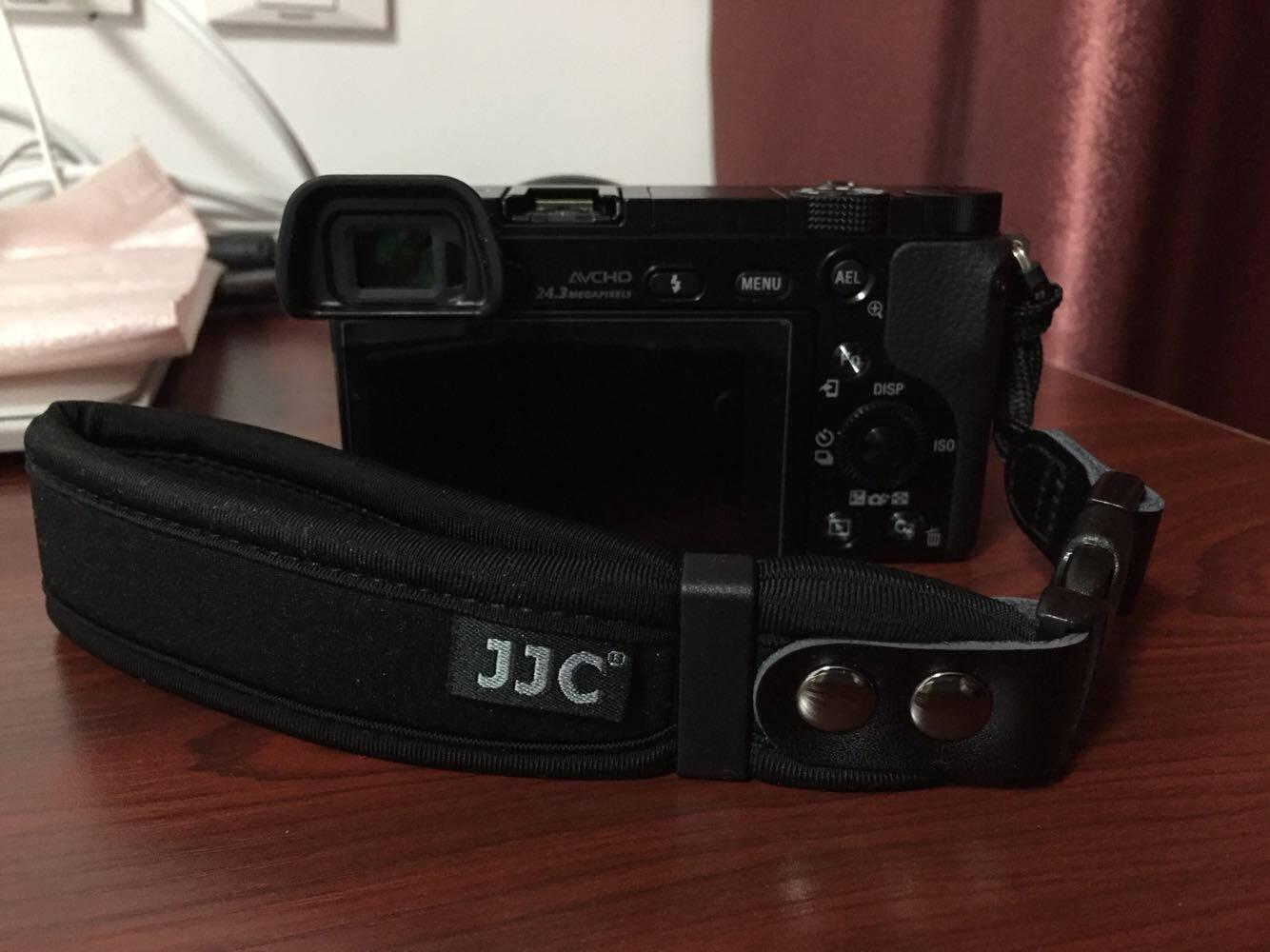 JJC相机手腕带适用于尼康Z7Z6索尼微单A6000A6400A7R3A7M3富士XT4ST-1黑色