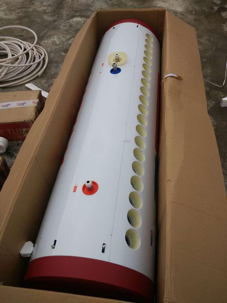 太阳雨太阳能热水器加大水箱T+系列家用全自动上水电辅热保热墙太阳能电热水器送货入户30管-255L水箱容量