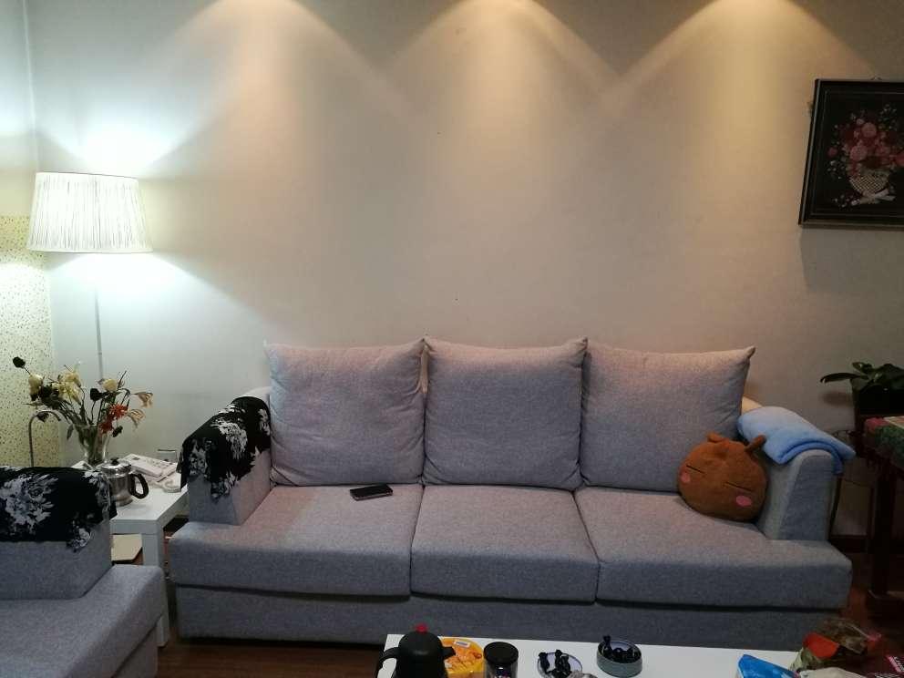 曲美家居真皮沙发轻北欧客厅沙发单人三人组合沙发客厅家具整装美人榻小组合(三人位+美人榻)莫兰迪灰色