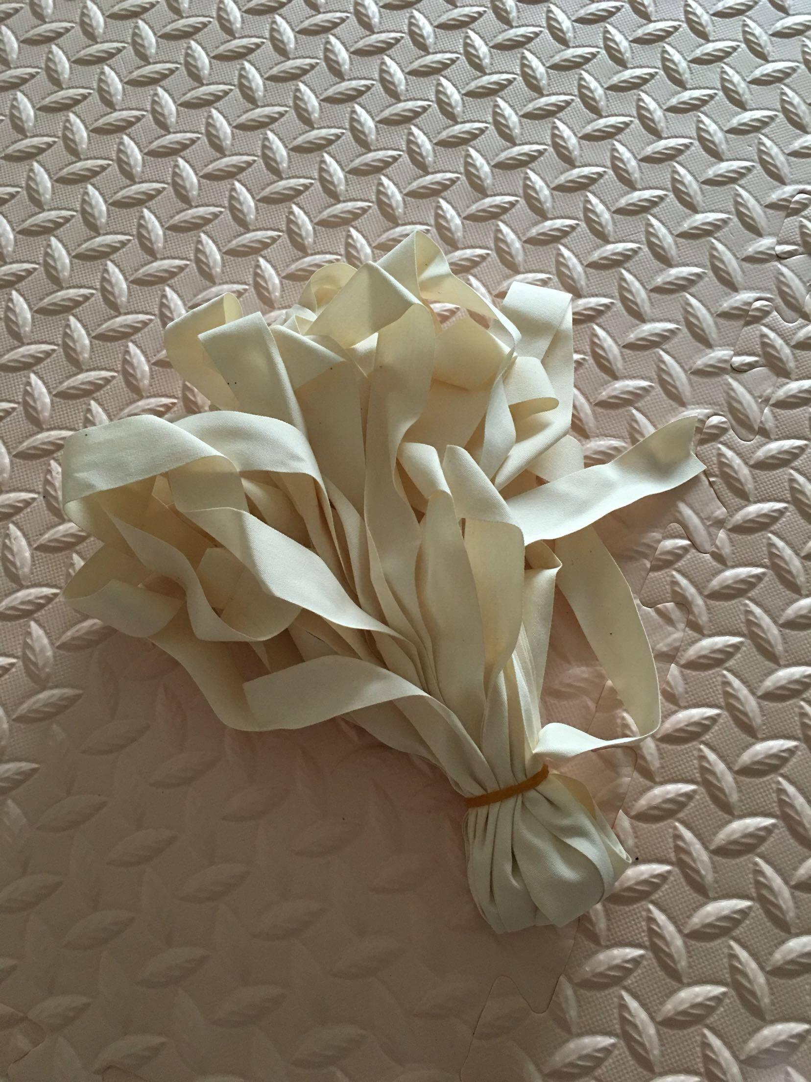 棉布平纹织带本白棉纱手工包边带布带商标带绑腿带滚边带辅料本白一米1CM