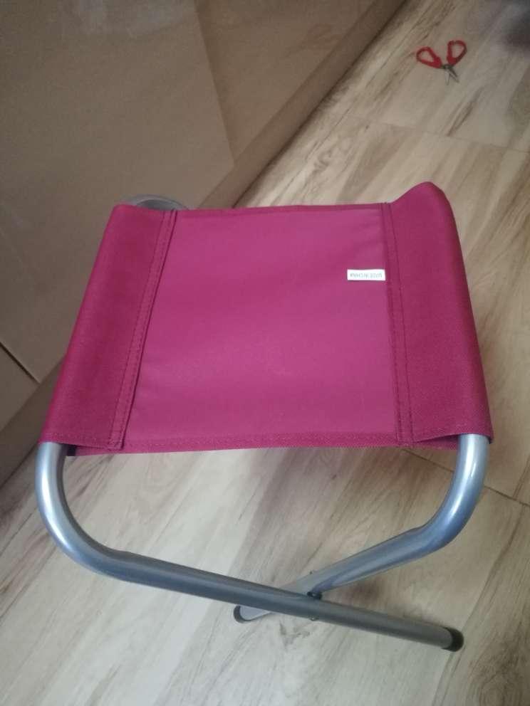 沃特曼Whotman马扎折叠椅火车小板凳便携式折叠凳户外休闲写生椅钓鱼凳露营野炊凳红色WD2161