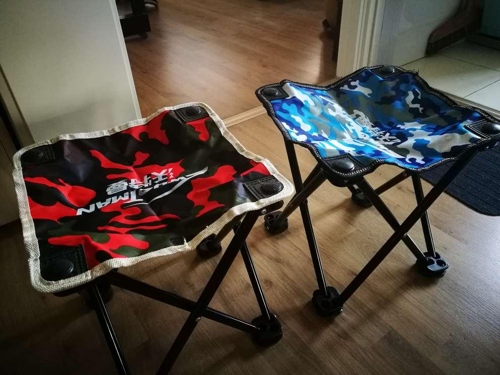 沃特曼Whotman马扎折叠椅便携式小凳子钓鱼椅户外休闲马扎大号WY1768条纹黑