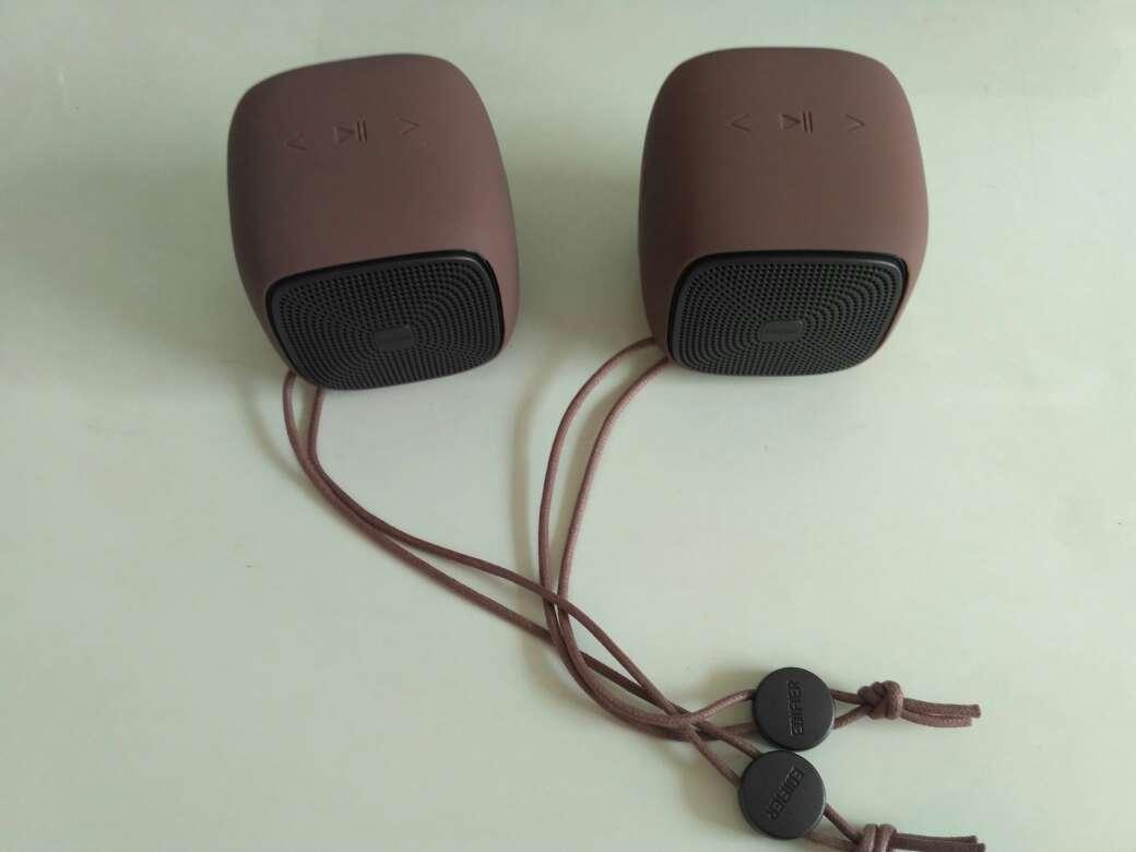 漫步者BUN&BUN蓝牙音箱,全无线立体声成对组网