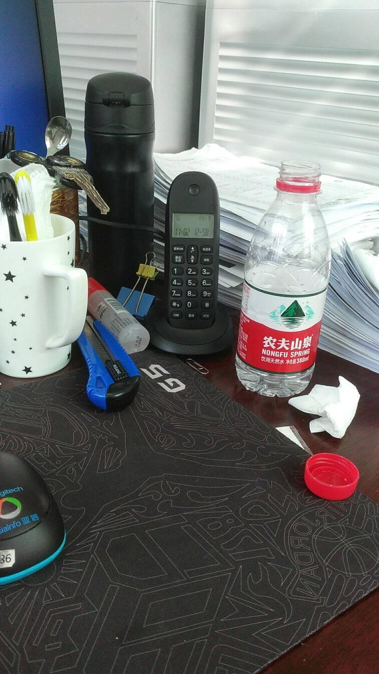 摩托罗拉(Motorola)数字无绳电话机无线座机子母机一拖二办公家用中文显示双免提套装CL102C(黑色)