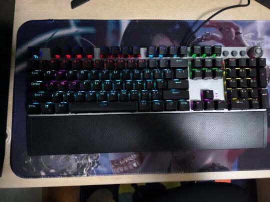 狼蛛F2088 黑轴 混光 普通版对比MSI GK50Z 电竞键盘区别很大吗?做工哪个更加好?哪个灵敏度佳