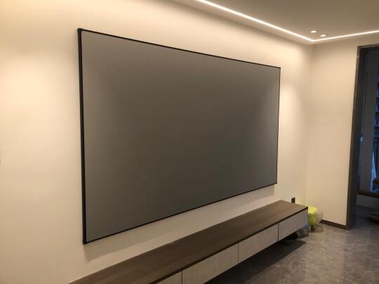 品跃k8钛晶抗光硬屏投影幕布怎么样上手一周说讲感受