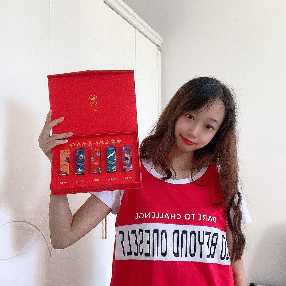 """℃中国风雕花口红套装礼盒,送女朋友生日礼物表白礼物"""""""