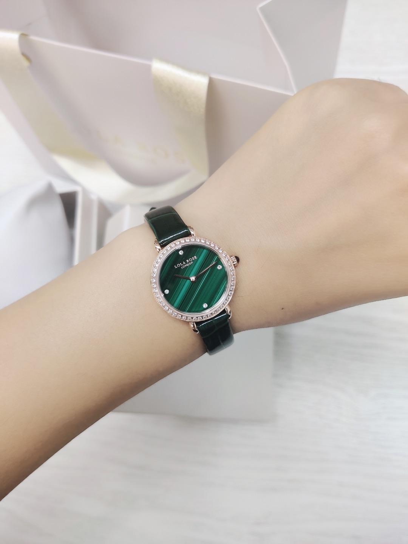 郑爽同款Lola Rose镶钻小绿表,漂亮的女友生日礼物推荐