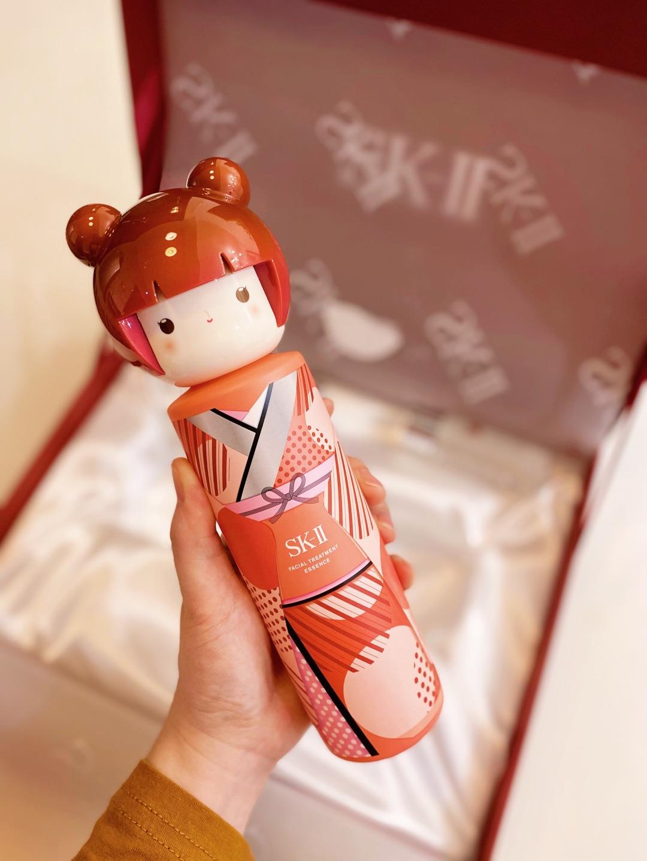 SK-II春日娃娃限定版神仙水,精华液护肤品套装,送女朋友妈妈纪念日礼物
