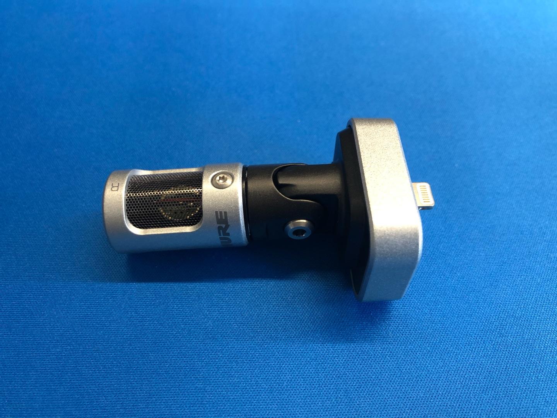 舒尔MV88数字立体声电容话筒,送朋友苹果手机录音礼物