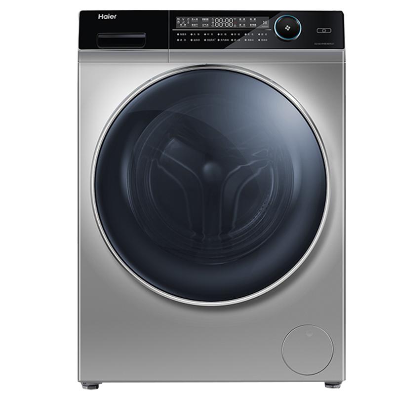 海尔(Haier)直驱变频滚筒洗衣机全自动紫外线除菌除螨EG10014HBD809LSU1  超薄10KG蒸汽洗烘一体