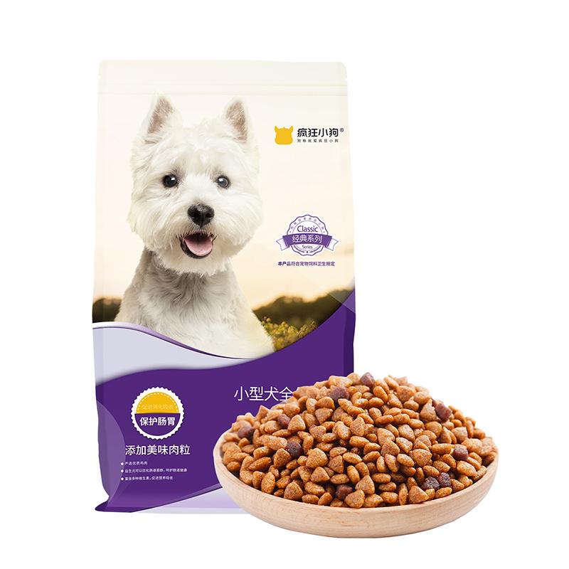 疯狂的小狗 狗粮宠物泰迪贵宾比熊博美幼犬成犬 益生元呵护肠胃5kg