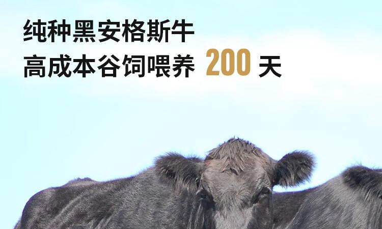 38377-【抢!京东秒杀】华牧鲜 加拿大进口AAA级原切谷饲雪花牛排套餐 厚切200g/份 安格斯牛肉生鲜 AAA级牛排8片装 1.6kg-详情图
