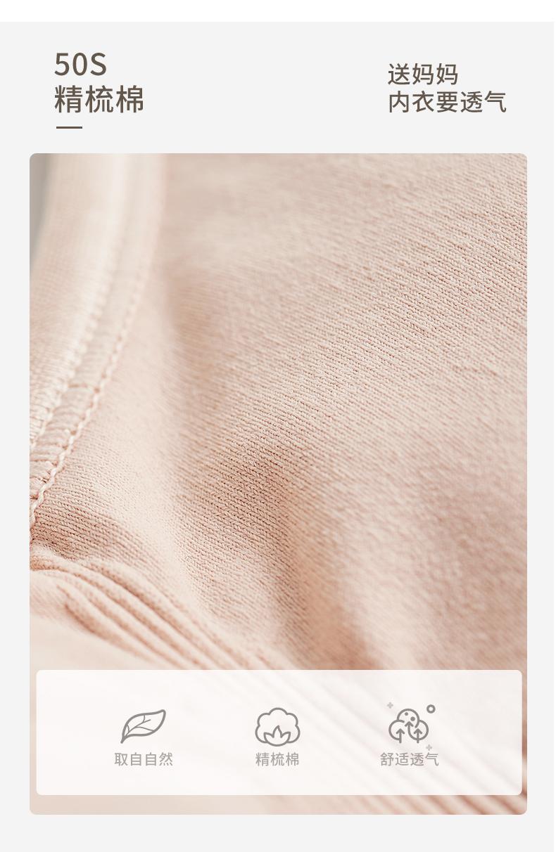 小护士文胸棉质无钢圈内衣前扣大码花纱款中老年文胸妈妈背心式胸罩SMB018麻灰38/85