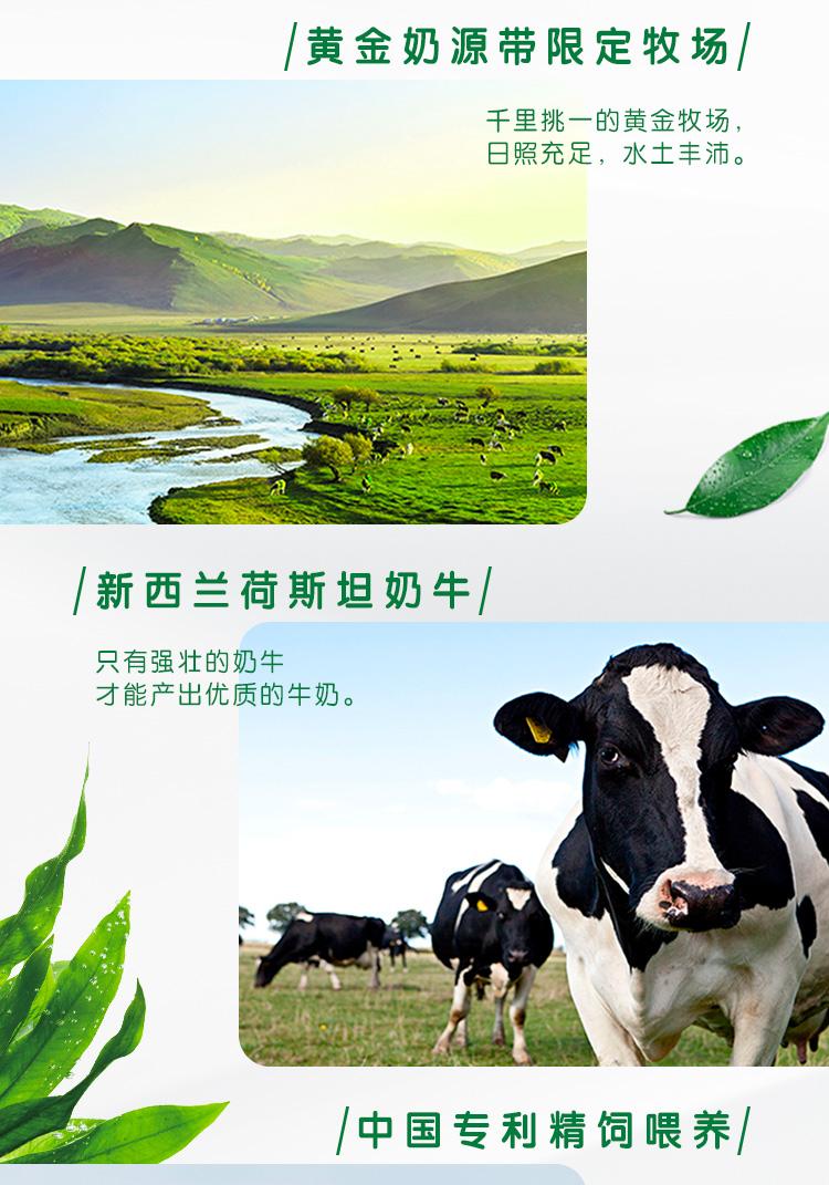 伊利 QQ星原生DHA儿童纯牛奶195mL*12盒/箱(礼盒装)