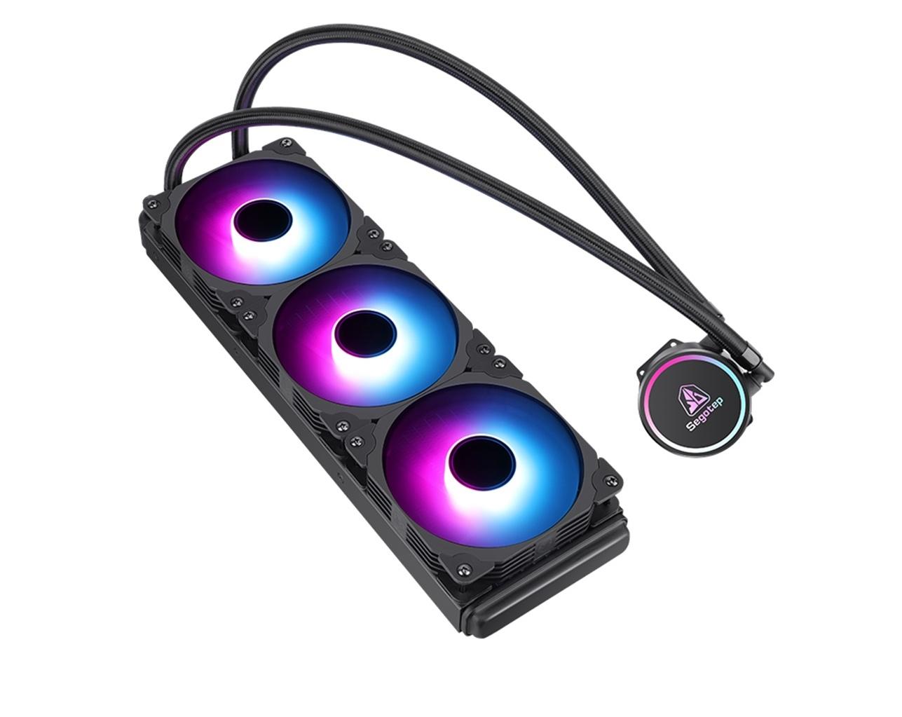 鑫谷(Segotep)冰酷360S发光水冷CPU散热器(温控彩灯风扇/一体式360冷排/8级马达/多平台扣具/2年质保)