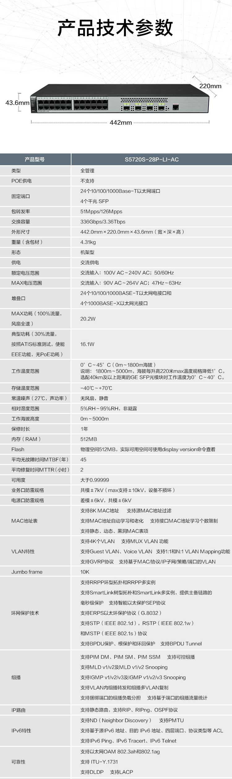 华为-S5720S-28P-LI-AC