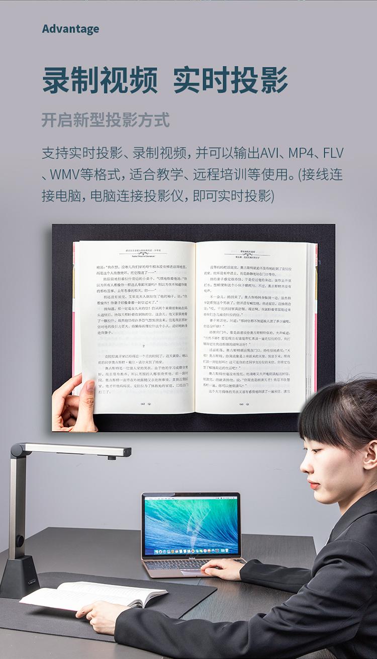 得力(deli)高拍仪 1200万像素 A3/A4幅面 商用办公文件文档试卷资料 自动对焦扫描仪15161
