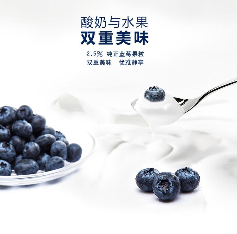 卡士 CLASSY.KISS 蓝莓果粒鲜酪乳 100g*6杯 低温酸奶酸牛奶 风味发酵乳 果粒酸奶