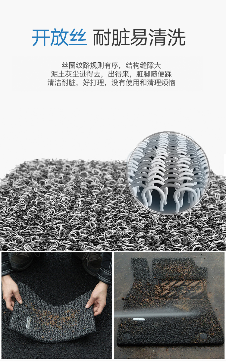 固特异(Goodyear)丝圈汽车脚垫 适用于卡罗拉雷凌奥迪a4l思域雅阁特斯拉model3脚垫 黑色 下单请备注车型/客服回电确认