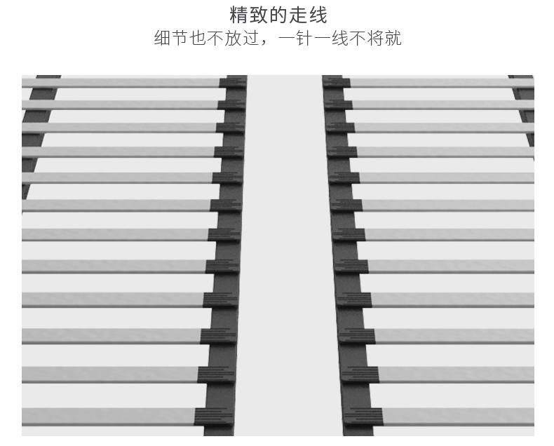 佳佰 真皮床实木床双人北欧主卧室轻奢现代主卧大床 1.8米*2米